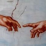 1 La creazione di Adamo, particolare del Giudizio Universale di Michelangelo